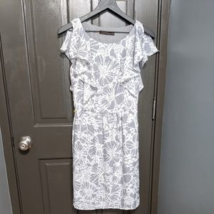 The Limited Gray Floral Dress